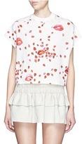 Giamba Ladybug lip print cropped T-shirt