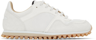 Spalwart White and Off-White Marathon Trail Low WBHS Sneakers