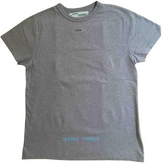 Off-White Grey Cotton T-shirts