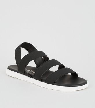 New Look Elastic Strap Chunky Flat Sandals
