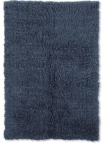 Linon Flokati Heavy Denim Blue Rug (2' x 8')