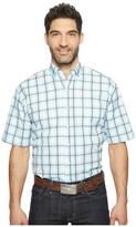 Stetson 0822 Windowpane Satin Check Short Sleeve Button