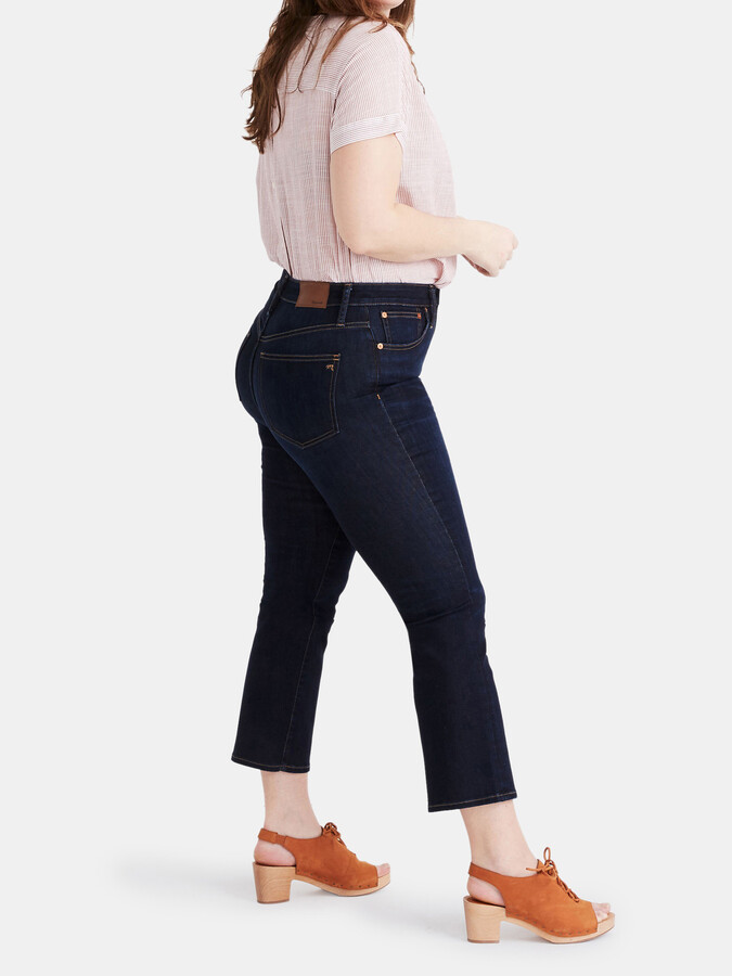 Thumbnail for your product : Madewell Curvy Larkspur Cali Demi High Rise Cropped Cut Slim Jeans