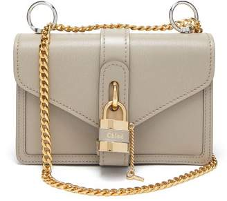 Chloé Aby Leather Shoulder Bag - Womens - Grey