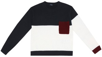 Il Gufo Colorblocked wool sweater