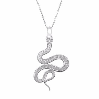 Cartergore Medium Silver Snake Pendant Necklace