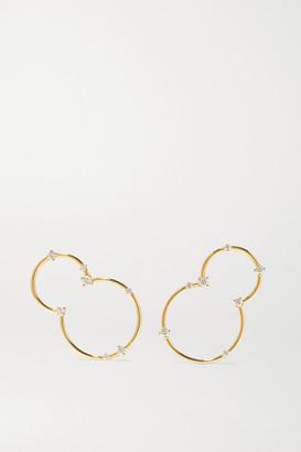 Fernando Jorge Acrobat Lobe 18-karat Gold Diamond Earrings