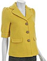golden yellow metallic wool 'Glim' blazer