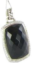 David Yurman Sterling Silver Onyx Diamond Albion Enhancer Pendant