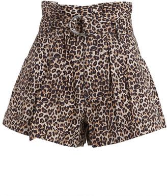 Marissa Webb Dixon Leopard Paperbag Shorts