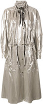 Isabel Marant metallic coat - women - Cotton/Linen/Flax - 34