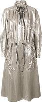 Isabel Marant metallic coat - women - Cotton/Linen/Flax - 38