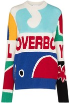 Thumbnail for your product : Charles Jeffrey Loverboy Intarsia-Knit Logo-Detail Jumper
