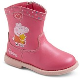 Toddler Girls' Peppa Pig Cowboy Boots - Pink