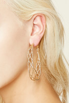 Forever 21 FOREVER 21+ Etched Spiral Hoop Earrings