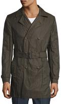John Varvatos Cotton Modern Trench Coat