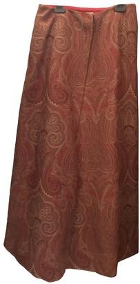 Etro Red Wool Skirt for Women