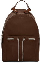 Jil Sander Brown Leather Army Backpack
