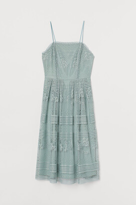 H&M Calf-length lace dress