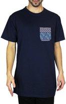 Beautiful Giant Men's Jacquard Pocket Crew-Neck T-Shirt Short Sleeve Tee Shirt Pocket Pocket Tee