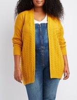 Charlotte Russe Plus Size Mixed Stitch Cardigan