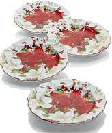 222 Fifth Winter Harmony Set of 4 Appetizer Plates