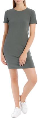 Miss Shop Crew Neck Short Sleeve Bodycon Dress