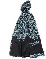 Diane von Furstenberg Black & Blue 'Kenley Cadence' Cashmere Scarf