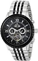 Burgmeister Denver Men's Automatic Watch with Black Dial Analogue Display and Two Tone Stainless Steel Bracelet BM327-127