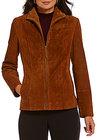 Preston & York-preston york suede genuine leathertrim scuba jacket