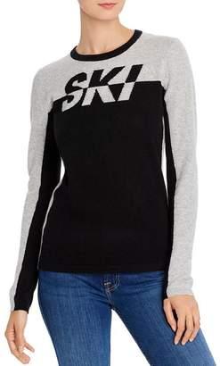 Minnie Rose Ski Color-Block Cashmere Sweater