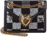 Dolce & Gabbana Devotion Medium Leather Shoulder Bag