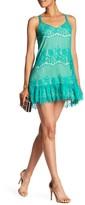 Trixxi Layered Lace Cross Back Dress
