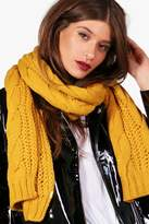 boohoo Abbie Chunky Cable Knit Scarf