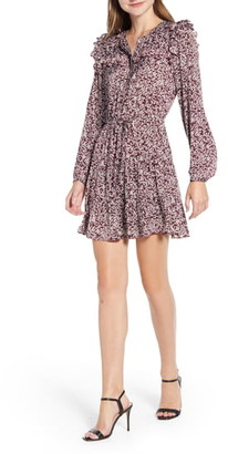 Rebecca Minkoff Selandra Disty Floral Ruffle Detail Dress