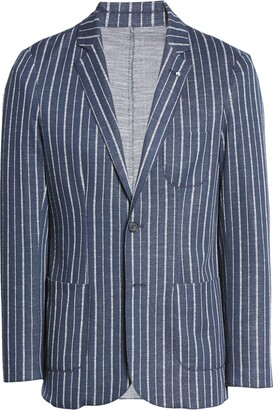 Bugatchi Trim Fit Stripe Sport Coat