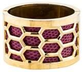 Kara Ross Lizard Honeycomb Cuff