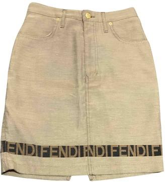 Fendi Beige Denim - Jeans Skirt for Women Vintage