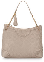 Tory Burch Fleming Quilted Leather Tote Bag, Bedrock