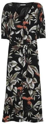 Oasis Parrot Print Midi Dress