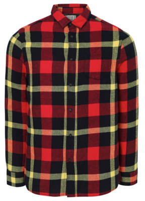 George Red Bright Check Long Sleeve Shirt