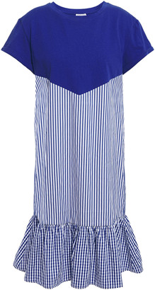 Claudie Pierlot Paneled Striped Cotton Dress