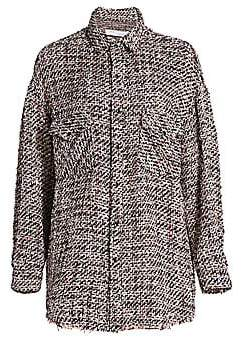 IRO Women's Artyn Metallic Shirt Jacket
