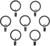 Crate & Barrel Set of seven Black Curtain Rings.
