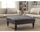 House of Hampton Gahn Square Tufted Ottoman
