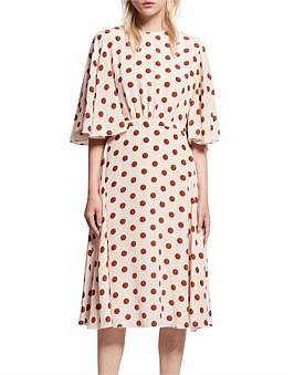Karen Walker Game Dot Crepe De Chine Poisoned Pawn Dress