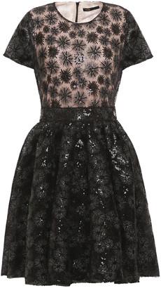Maje Flared Embellished Tulle Dress