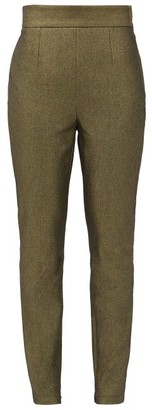 Dolce & Gabbana High-rise Metallic Cotton-blend Trousers - Gold