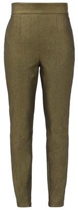 Dolce & Gabbana High-rise Metallic Cotton-blend Trousers - Womens - Gold