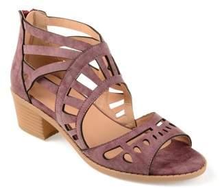 Brinley Co. Womens Faux Nubuck Open-toe Laser-cut Sandals